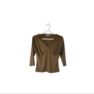 Wanko Green Fitted Top